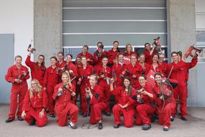 """<div class=""""bildtext_1"""">Die 30 Teilnehmerinnen des Hilti Women's Day 2017 bekamen einen exklusiven Einblick in die Hilti Welt.</div>"""