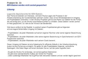 EDV-Dateien werden nicht zentral gespeichert ...<br />