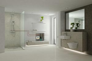 """<div class=""""bildtext_1"""">Modell: Bodengleiche Duschen mit Sanftläufer-System von Gang-Way.</div>"""