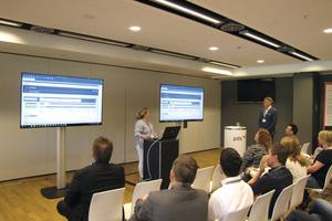 """<div class=""""bildtext_1"""">Wie die Zusammenarbeit zwischen Bauleiter und Büro funktioniert, zeigte der Workshop """"Digital Voraus"""". </div>"""