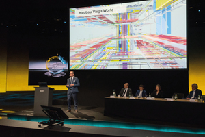 """<div class=""""bildtext_1"""">Vorstellung des Neubaus der """"Viega World"""" - ein """"Leuchtturmprojekt"""" für die Zukunft des Bauens </div>"""