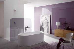 """<div class=""""bildtext_1"""">Pastelltöne liegen im Einrichtungsbereich im Trend – Mint, Rosa oder ein helles Blau wirken freundlich und setzen farbige Akzente. Mit pastelligen Badezimmern schafft man sich eine schöne, neue Welt, mal poppig, mal verträumt. </div>"""