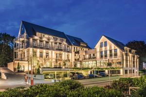 """<div class=""""bildtext_1"""">Hotel Villa Saxer in Goslar (Niedersachsen) bestehend aus dem denkmalgeschützten Altbau (früheres Polizeigebäude) und einem Neubau.</div>"""