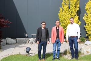 Von links: Fabian Wölfelschneider, Geschäftsführer Michael Bader und Martin Hofmann.