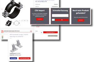 Der neue Webshop von MEFA bietet mehrere Möglichkeiten zum komfortablen Auffinden der Produkte und alle wichtigen Informationen in kompakter Weise. Bild: MEFA