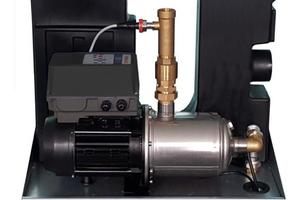 """<div class=""""bildtext_1"""">Trinkwassertrennstationen sind als Systemlösungen in sich fertig installierte Apparate. Ihre Pumpenkennlinie wird bestimmt vom Volumenstrom in m³/h oder l/min und vom Wasserdruck in bar.</div>"""