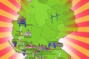 1.600 Kilometer durch Deutschland: Die Rallye startet in Dortmund und endet in Erlangen.