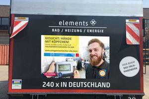 Nachwuchswerbung für das Fachhandwerk – über 1.300 GC-Lkw rollen auf Deutschlands Straßen.