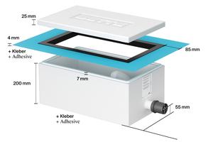"""<div class=""""bildtext_1"""">Plug-and-Play: Die Installationsbox """"Easy Connect"""" spart beim Anschluss von Bade- und Duschwannen Arbeitsschritte bzw. Zeit und sorgt für normgerechte Dichtigkeit.</div>"""