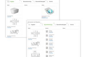 """Detail-Darstellung der """"Produktinformationen nach Bauphase""""-Integration"""