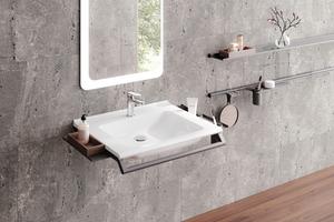 """<div class=""""bildtext_1"""">Beispiel für durchdachtes Design: Das modulare Waschtisch-Konzept lässt sich individuell<br />um einen Haltegriff und Ablagemöglichkeiten erweitern.</div>"""