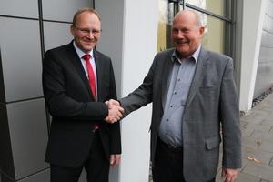 Martin Thiel (links) ist ab Januar Mitglied der Kemper-Geschäftsführung. Dr. Wieland Pavel geht in den Ruhestand.