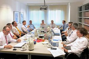 """<div class=""""bildtext_1"""">Die Gesprächsrunde traf sich in den Räumen des BTGA in Bonn zu einem konstruktiven Fachaustausch.</div>"""