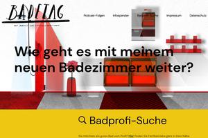 Interessierte finden auf der Homepage www.badetag.online neben den Podcast-Folgen noch weiterführende Informationen und Produkthinweise zu den jeweiligen Themenblöcken. Außerdem im Programm: eine Badprofi-Suche.