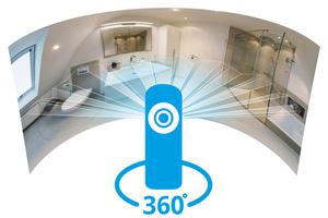 """<div class=""""bildtext_1"""">Mit einer 360°-Kamera können ganze Räume auf einmal fotografiert werden. Sowohl Bäder als auch Heizungen. Damit kann ein Handwerker seine Referenzen selbst fotografieren und in der digitalen Ausstellung präsentieren.</div>"""