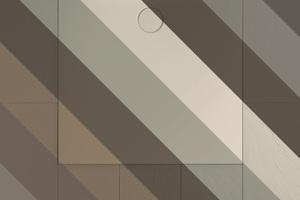"""<div class=""""bildtext_1"""">Für alle, die matte Farben bevorzugen: Die exklusiven Mattfarben für bodenebene Duschflächen sind fein abgestimmt auf aktuelle Trends bei Fliesen, Naturstein und Holzböden. </div>"""
