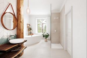 """<div class=""""bildtext_1"""">Ob im Hotelbad oder zu Hause: Hightech-Materialien wie Stahl-Email sind nachweislich hygienischer und leichter zu reinigen als aus Acryl hergestellte Produkte oder geflieste Duschen. Dank des Perl-Effekts, mit dem Waschtische von Kaldewei serienmäßig ausgestattet sind, perlt das Wasser einfach ab: genauso wie Schmutz und Kalk.</div>"""
