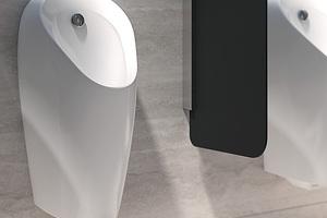 """<div class=""""Bildtext 1"""">Berührungslose Urinalsteuerungen schaffen im halböffentlichen und öffentlichen Raum mehr Hygiene für den Benutzer und sorgen dafür, dass er stets ein sauber ausgespültes Urinal vorfindet, hier das spülrandlose Urinal Geberit """"Preda"""".</div>"""