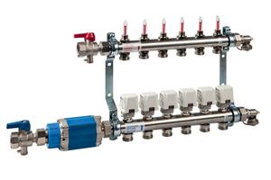 """<div class=""""bildtext_1"""">Kommt bei moderneren Heizungssystemen zum Einsatz: Der dynamische Differenzdruckregler. Er wird zusammen mit Heizkreisverteiler nebst Durchflussmengenmesser installiert.</div>"""