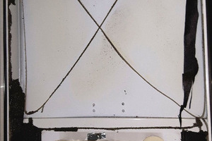 """<div class=""""bildtext_1"""">Defekte Dämmung/Dichtung der Innenwandverkleidung einer Brennwerttherme eines bekannten Herstellers.</div>"""