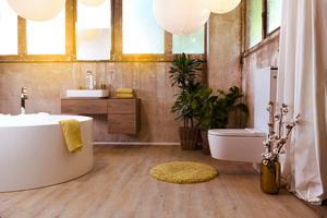 """<div class=""""bildtext_1"""">Die von der Sanitärwirtschaft für eine moderne Badkultur entwickelten Raumkonzepte weisen unterschiedliche Elemente wie etwa Wohnlichkeit, Funktionsdifferenzierung, Wasserinszenierung oder Regenduschen auf, deren Kombination den Badezimmertyp Private Spa schafft.</div>"""