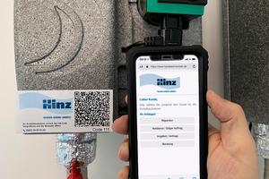 """<div class=""""bildtext_1"""">Hat der Kunde ein Anliegen oder eine Störung, genügt es, dass er den Label Service-Sticker scannt. Auf seinem Smartphone oder Tablet öffnet sich eine Seite mit dem Logo seines SHK-Unternehmens.</div>"""