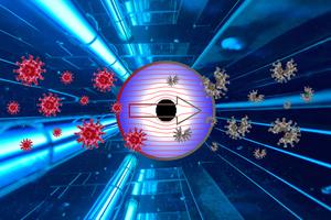 """<div class=""""bildtext_1"""">Im Inneren der UV-C-Entkeimungsgeräte von LTG sorgt eine Verspiegelung für eine wirksame Bestrahlung von allen Seiten.</div>"""