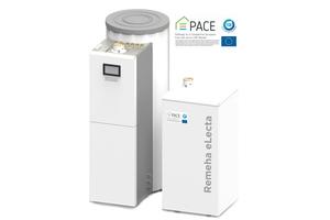 """<div class=""""bildtext_1"""">Remeha unterstützt die PACE-Initiative und will die effiziente Brennstoffzellentechnologie dadurch breiter in den Markt bringen. Das hier zu sehende """"eLecta 300"""" System ist eine Brennstoffzellen-Unit für den Ein- Zweifamilienhaushalt.</div>"""