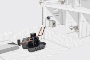 """<div class=""""bildtext_1"""">Eine Regenwassernutzungsanlage kann bis zu 50 % des Trinkwasserbedarfs decken. Beispielsweise bei der Nutzung für die Toilette: Pro Person rechnet man täglich mit etwa 40 l Wasserverbrauch.</div>"""