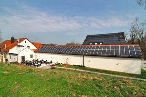 """<div class=""""bildunterschrift_ueberschrift"""">Sonnenenergie</div>Zusätzlich zum BHKW wird der gastronomische Betrieb """"Im Gärtlein"""" mit der kostenlosen Energie der Sonne versorgt<br />"""