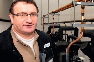 """<div class=""""bildunterschrift_ueberschrift"""">Zeitersparung</div>Geschäftsführer Ralf Schulz von der Kälte-Klimatechnik GmbH setzt auf Zeitersparung mit Hilfe von EDV"""