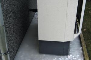 """<div class=""""bildunterschrift_ueberschrift"""">Eisbildung bei der Wärmepumpe</div>Gefrorenes Kondensat unterhalb der Luft-/Wasserwärmepumpe<br />"""