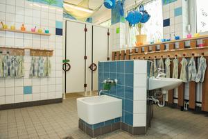Hier gibt es noch Arbeit für den SHK Profi bei der Sanierung der weiteren Waschräume<br />