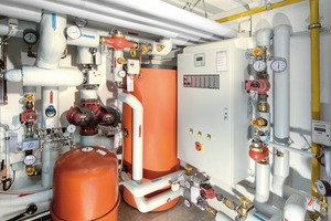 """<div class=""""bildunterschrift_ueberschrift"""">Heizanlage</div>Durch die Kombination von Wärmepumpen und Brennwertgeräten wurde die Heizanlage modernisiert"""