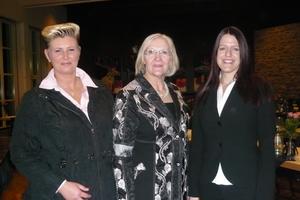 Maja Scholz (li.), Heidi Kluth (Mitte) und Gabi Nikoleit (re.)<br />