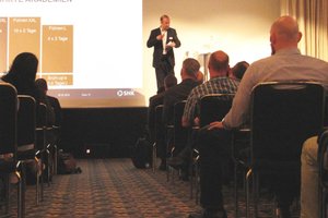 """<div class=""""bildtext_1"""">Vorträge &amp; Workshops bereicherten das Rahmenprogramm der SHK-Jahreshauptversammlung.</div>"""