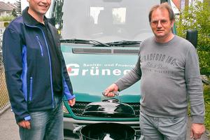 Manfred Grünecker (re.) und Michael Struller (li.) | Foto: Wöhler<br />