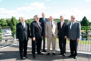 Der neue Vorstand des ZVSHK (v.l.n.r.) Rolf Richter, Friedrich Budde, Ulrich Kössel, Dieter Lackmann, Manfred Stather, Werner Obermeier<br />