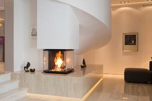 """<div class=""""bildtext_1"""">Der vierseitige Kamin von David Muhl ist einer von drei Gewinnern der Ofenflamme.</div>"""