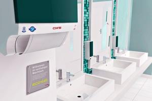 """<div class=""""bildtext_2"""">Das """"ecoilet""""-Umweltsiegel zeigt Waschraumnutzern, dass umweltfreundliche Produkte verwendet werden. </div>"""