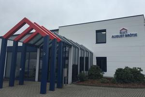 Das neue Firmengelände von G.U.T. August Brötje ist rund 10.000 m² groß und liegt an der A1.