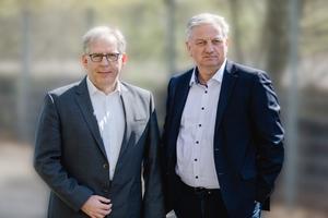 v.l.n.r.: Dr. Jens-Uwe Heitsch und Franz Thiele