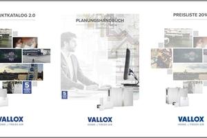 Aktuelle Vallox-Wissens-Trilogie: Der neue Produktkatalog 2.0 von Vallox mit zugehöriger Preisliste und das Planungshandbuch sind gedruckt und online verfügbar (Quelle: Vallox GmbH)
